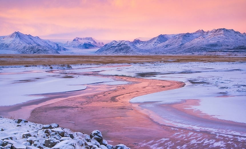 Pink, Winter Sunset.